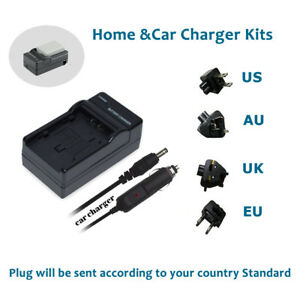 Replacement for Canon LP-E5 Digital Camera Chargers 100-240V Canon EOS 450D Charger with Car Plug /& EU Adapter