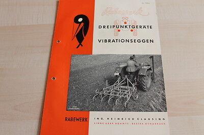 Parts & Accessories Amiable 144452 Rabewerk Dreipunkt Vibrationseggen Prospekt 11/1958 Manuals & Literature