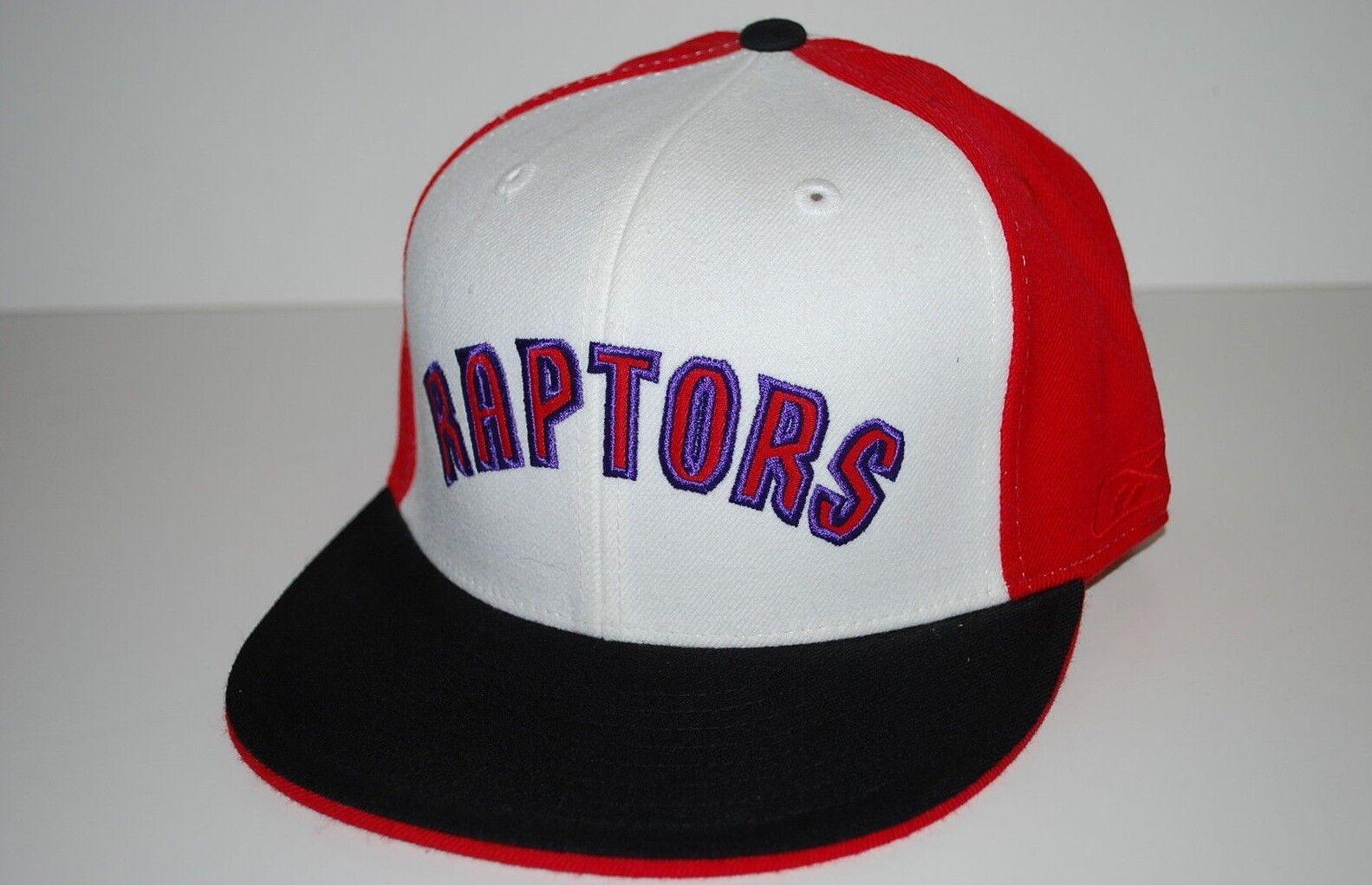 Toronto Raptors Reebok Bill NBA Basketball Fitted Flat Bill Reebok Cap Hat Size 7  3/4 a62f43