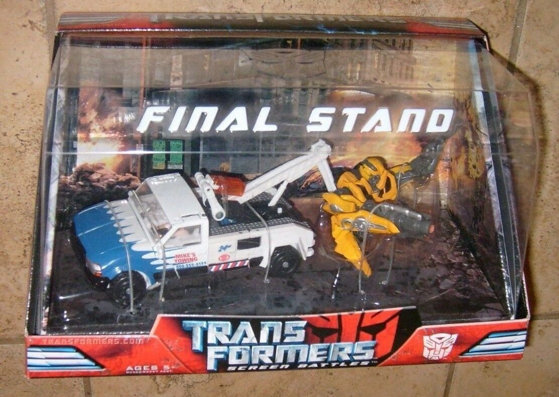 Transformers RARE Screen Battles Final Stand Long Arm & Bumblebee Figure NEW