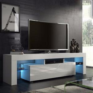 Mobel Schrank Weiss Tv Zu Ko Led Lowboard Sideboard Details