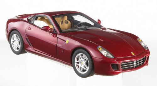 Ferrari 599 GTB FIORANO bordeaux Maroon 1 18 par Hot Wheels Elite livraison gratuite