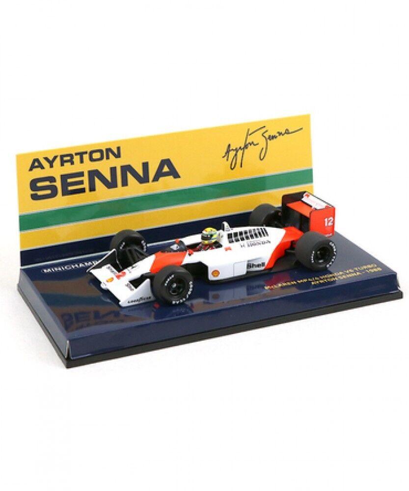Nuovo 1 43 scale Ayrton Senna Collection McLaren MP4   4 Honda V6 Turbo 1988 Japan