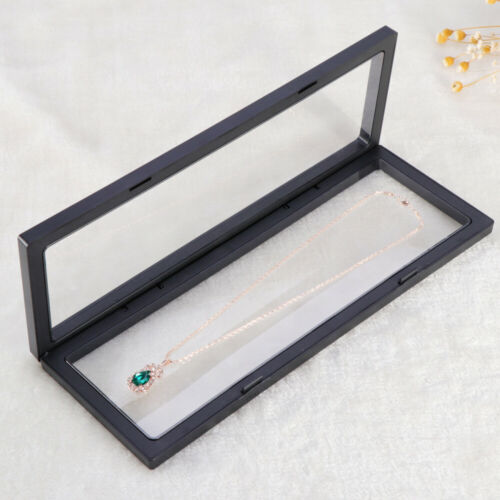 3D Floating Frame Shadow Box Display Case Coin Jewelry Show Case with Base