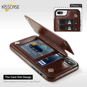Leather-Wallet-Card-Holder-Flip-Case-Cover-For-Samsung-Galaxy-S9-S8-Plus-iPhone