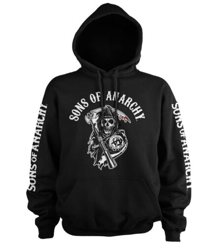 Officially Licensed Sons Of Anarchy Logo Hoodie S-XXL Sizes
