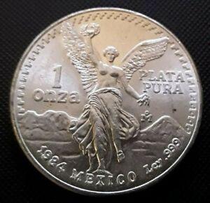 1984 1 oz Mexican Silver Libertad Coin BU