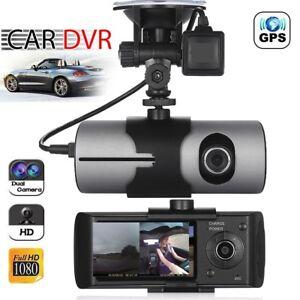Dual-Lens-GPS-Car-DVR-Camera-HD-Dash-Cam-Video-Recorder-G-Sensor-w-Night-Vision