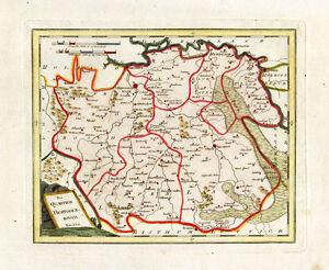 Antique Map-BRABANT-\'S HERTOGENBOSCH-EINDHOVEN-HELMOND-NETHERLANDS ...