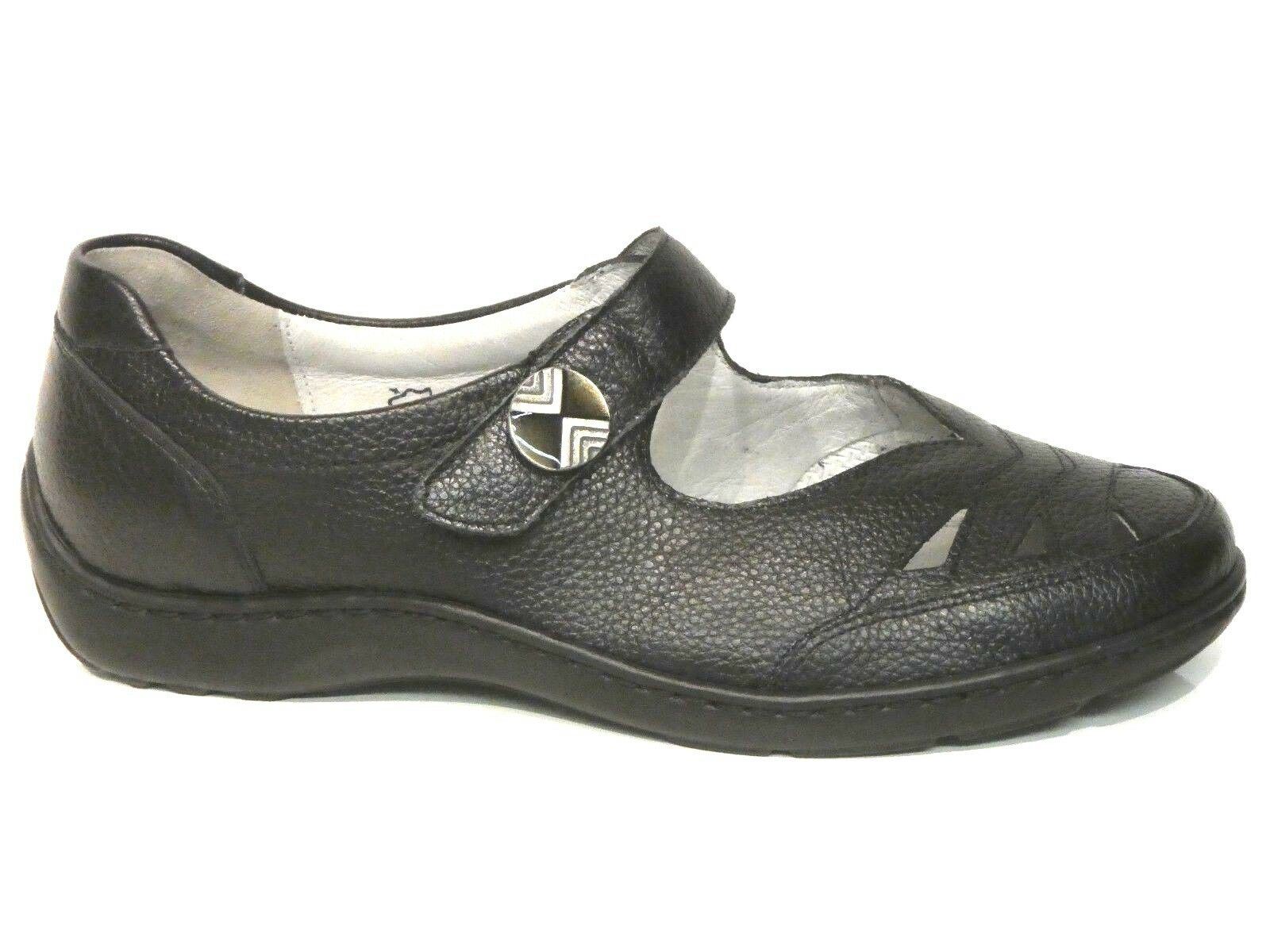 zu billig Schuhe Henni Slipper Ballerina schwarz Leder