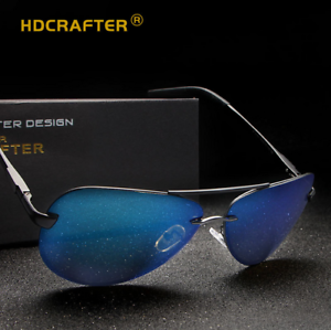 c5900d4051 Image is loading HDCRAFTER-Men-Aluminum-Polarized-Sunglasses-Outdoor-Driving -Fishing-