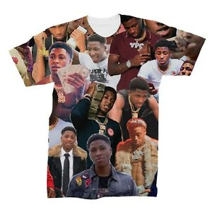 92a797f2f Image is loading YoungBoy-Never-Broke-Again-Photo-Collage-T-Shirt