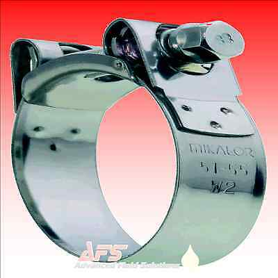 4 x Mikalor Stainless Steel Hose//Exhaust Clamps Supra Satin Black 43-47mm