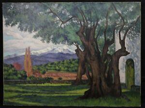 Lucien-VOGT-1891-1968-Landscape-mountain-HST-Mulhouse-Alsace-Alps-Pyrenees