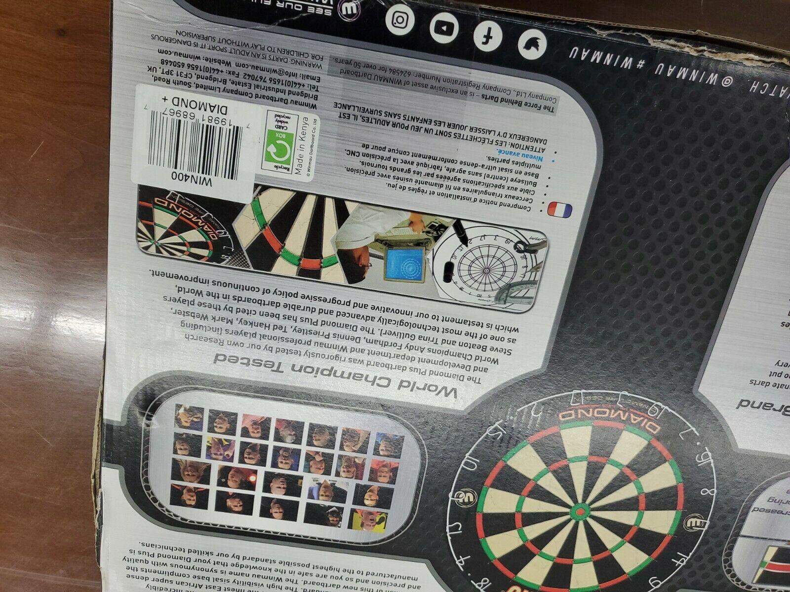 Winmau Diamond Tournament Dartboard  With Plastic Dominoes PUB Gift Deal Combo