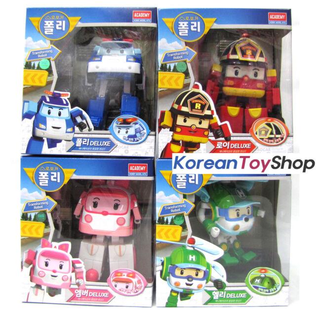 Robocar poli transformer deluxe 4 pcs set poli roy amber helly robot toy academy for sale online - Robocar poli ambre ...
