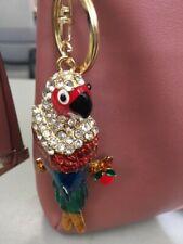 Parrot Multi-Color Keychain Rhinestone Crystal Cute Animal Bird Charm Gift 01135
