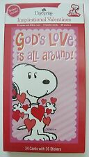 Snoopy Peanuts Valentine Day Cards Inspirational Valentines 34 Cards 36 Stickers