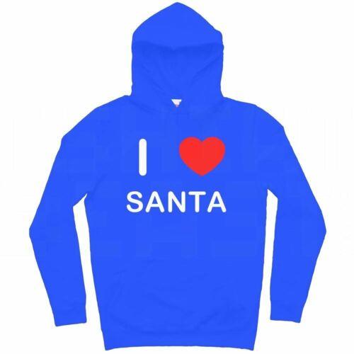 I Love Santa-Sweat à capuche