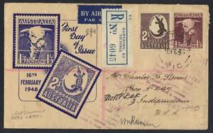 AUSTRALIA-1948-REGISTERED-HAWTHORN-VICTORIA-FDC-COVER-TO-US-amp-RETURNED-WITH-DEAD