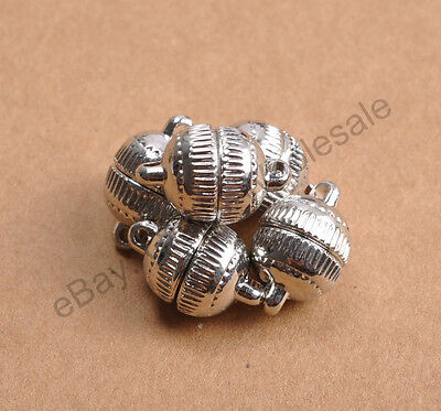 10Sets Silver/Gold Plated Stripe Jewelry Powerful Magnetic Clasps 6MM 8MM 10MM