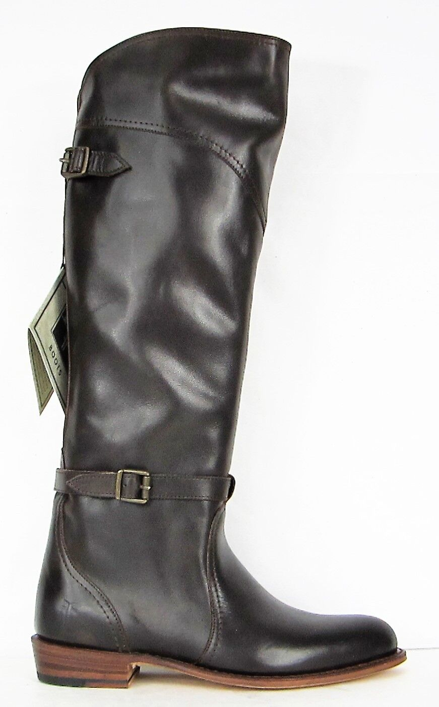 FRYE BOOTS Dorado Riding Dark Brown Leather Riding Boots 77561 SZ 6.5  6/  $458