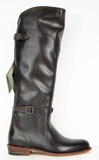 bb494e5afcda FRYE BOOTS Dorado Riding Dark Brown Leather Riding Boots 77561 SZ 6.5 6    458