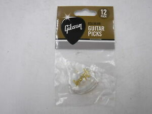 Medium GIBSON Pearloid White Picks 12 Pack
