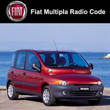 Fiat Multipla RADIO codice STEREO decodifica AUTO UNLOCK Fast servizio Regno Unito tutti i veicoli