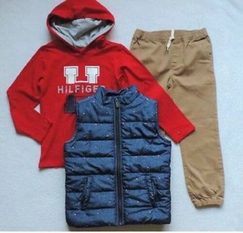 Pants Set Size 5 Shirt New Tommy Hilfiger Boys 3 Pieces Vest