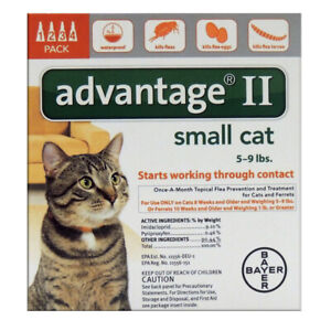 NEW-Bayer-Advantage-II-for-Small-Cats-5-9-Lbs-Genuine-EPA-Approved-4-Month