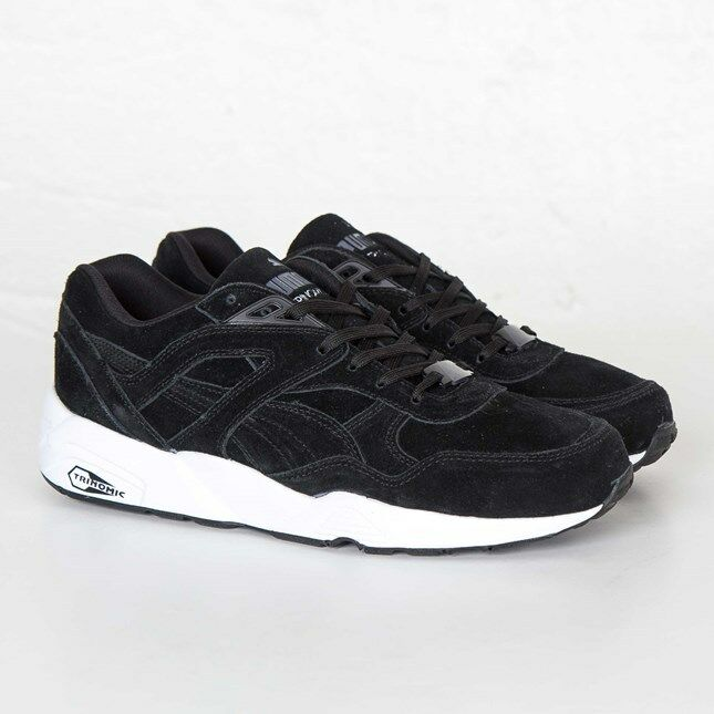PUMA R98 Allover Suede 359392-05 Noir Homme Taille US  NEW 100% Authentic