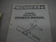 Land Pride Owners Parts Manual 25 Series Rear Blade