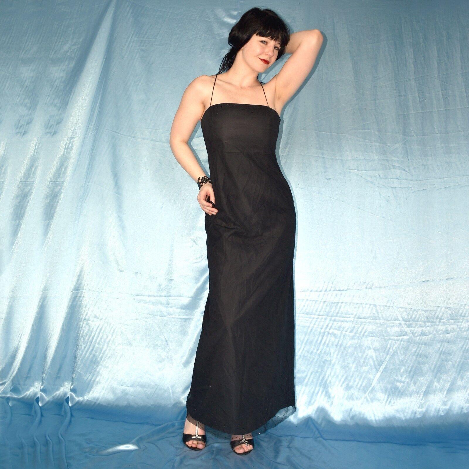 Rhinestone Evening Dress Gothic Black * M Tulle Cocktail Dress ...