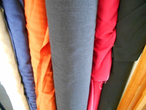 6 COLOURS- 145cm CLEARANCE POLY VISCOSE LINEN GALWAY FABRIC MED WEIGHT