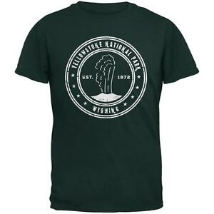 Yellowstone-National-Park-Forest-Green-Adult-T-Shirt