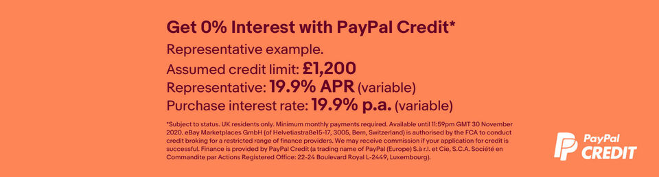 Find out more - Get 0% interest on PayPal Credit