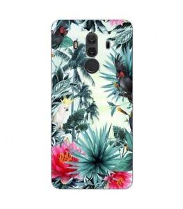 Coque-Mate-10-PRO-perroquet-palmier-exotique-tropical-fleur-rose