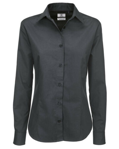 amp;c Fit Xs 4xl Lunga Colletto Ufficio B Smart shirt Donna T Cotton Manica 100 Adw1g0x