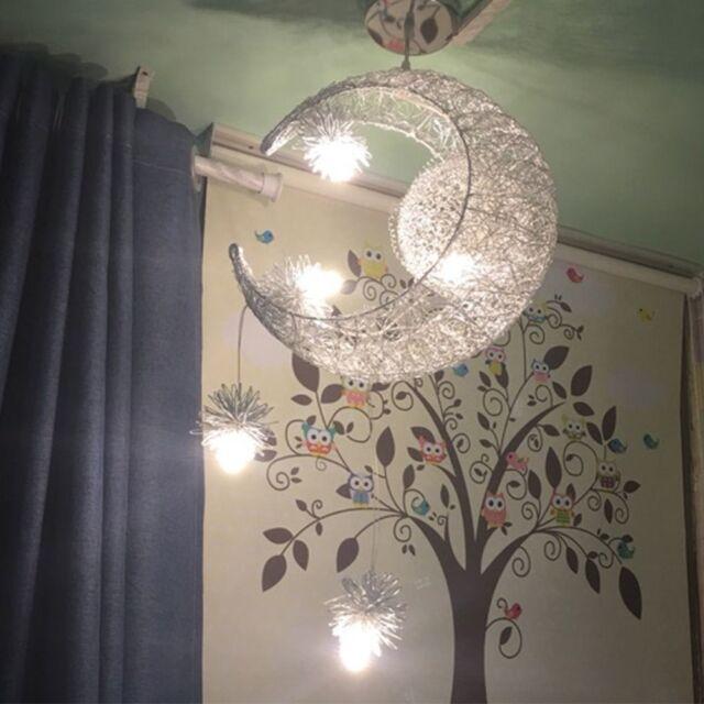 Moon Star Children Child Kid Pendant Lamp LED Chandelier Ceiling Light  Bedroom