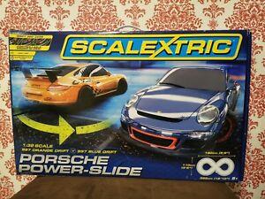 Scalextric Porsche Power Slide Tested working