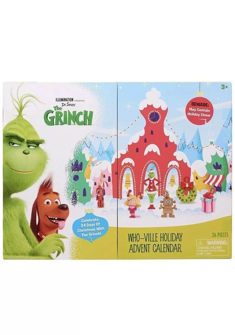 THE GRINCH MOVIE 2018 ILLUMINATION WHOVILLE HOLIDAY ADVENT CALENDAR 11 FIGS NEW