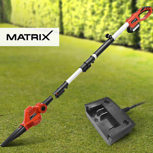 Matrix Cordless Pole Blower Attachment 20V Garden Tool Kit 1.5Ah Battery Charger