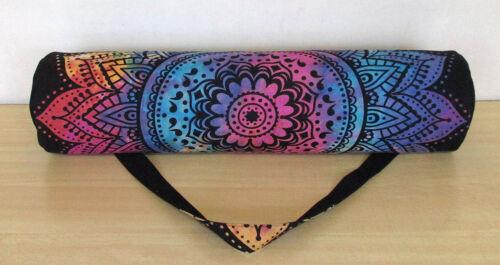 Indian Yoga Bag Mandala Tie Dye Cotton Gym Mat Carrier Bags With Shoulder Strap