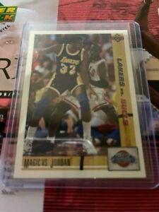 Michael Jordan with Magic Johnson34MAGIC VS JORDAN1991UPPER DECK