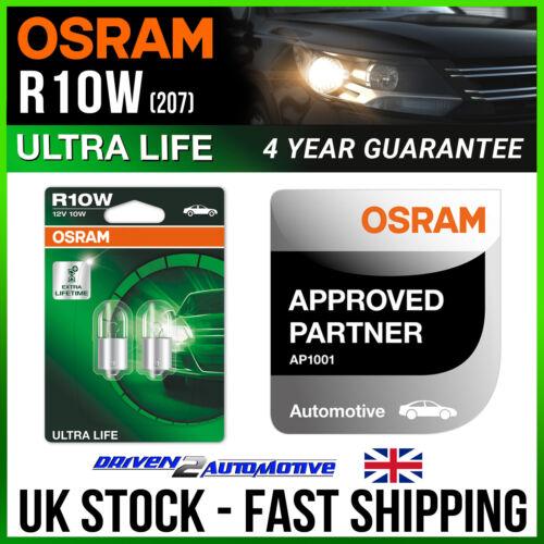 03.06-12.13 2x OSRAM R10W ULTRA LIFE BULBS 12v 10w VESPA LXV LXV 125 i.e