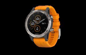 GARMIN-Fenix-5-Plus-Saphir-Orange-GPS-Sport-Handgelenk-HR-Uhr-47-mm-010-01988-05
