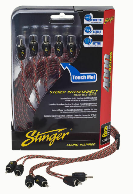 Stinger SI4612 Car Audio 4000 Series 12 Foot 6 Channel Stereo Signal Amp Cable