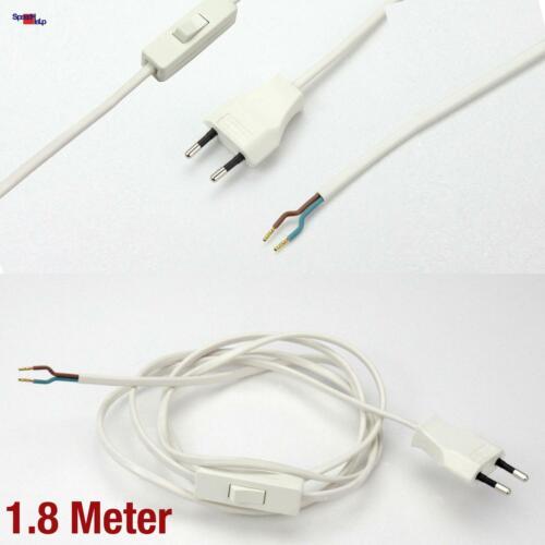 220 V 2.5 A Euro Réseau Power Câble d/'alimentation Cable direction Interrupteur Connecteur Lampes Câble