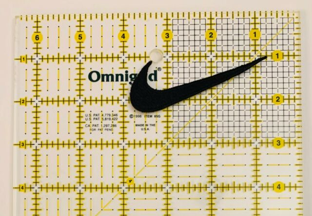"""3 Nike Black  Logo  Embroidered Iron On Patches  Approx 2""""x .75"""""""